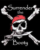 Surrender The Booty Pirate Skull