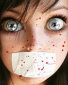 splatter face girl