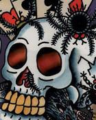Ed Hardy Tattoo Skull Large