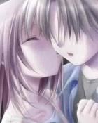anime girl kiss