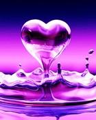 Purple Pink Water Heart
