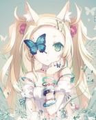 Neko with Butterflies