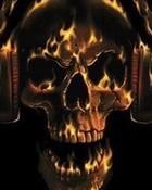 flamin skull