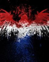 Dutch Flag with Eagle