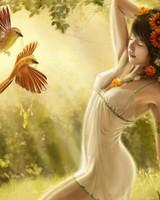 Digital Fantasy Girl Art