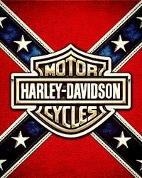 Harley logo in Confederate flag