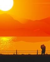 Romantic Couple Sunset Silhouette