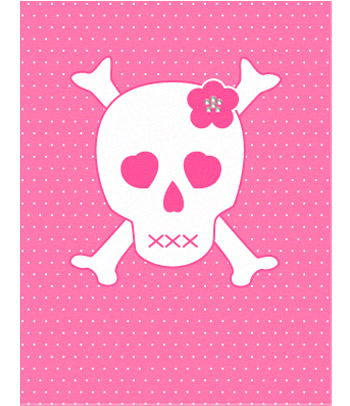 Free pink skull.jpg phone wallpaper by cacique