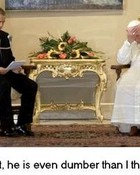 Funny George W Bush Pictures - Bush meets the Pope.jpg