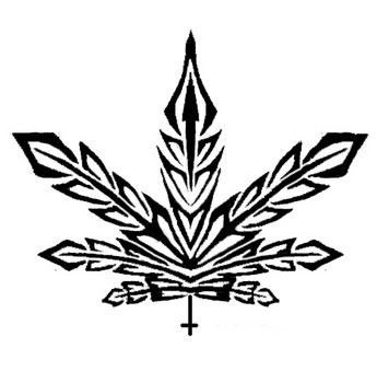 Free Tattoo Marijuana Tribal.jpg phone wallpaper by cacique