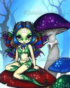 Masked Fairy on the Mushrooms