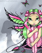 Pink and Green Butterflies