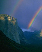 Double Rainbow, Tunnel View wallpaper 1