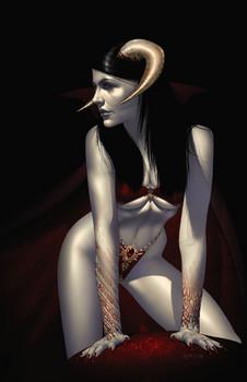Free vampire demon girl.jpg phone wallpaper by cacique