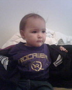 reppin the roca wear! my baby girl!!
