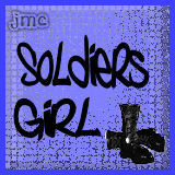 Free soldiers girl blue combat boots.jpg phone wallpaper by pinkarmywifey