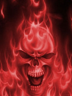 Free Red Flaming Skull.jpg phone wallpaper by cacique