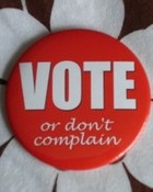 VOTE or don't complain wallpaper 1