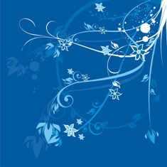 Free blue floral phone wallpaper by misses