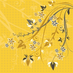 Free yellow floral phone wallpaper by misses
