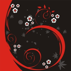 Free black/red floral phone wallpaper by misses