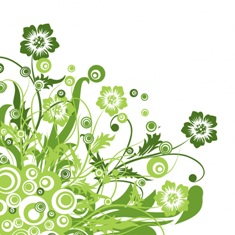 Free green floral swirls phone wallpaper by misses