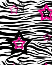 Free Zebra Stars phone wallpaper by c0smicblast