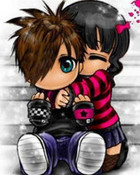me and my baby in cartoon