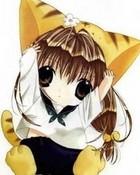 cute chibi catgirl