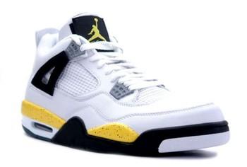Free air-jordan-4-iv-retro-ls-white-tour-yellow-dark-blue-grey-black-3.jpg phone wallpaper by lilrell9000