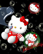 Free Hello Kitty Bubbles phone wallpaper by cleohines