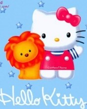Free Hello Kitty Lion phone wallpaper by cleohines