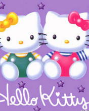 Free Hello Kitty Twins phone wallpaper by cleohines
