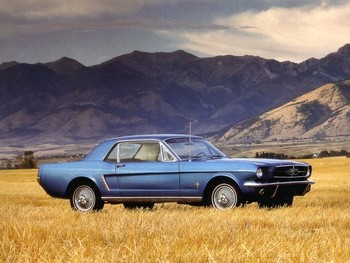 Free 1965 Ford Mustang -color advertising photo.jpg phone wallpaper by hotrod23