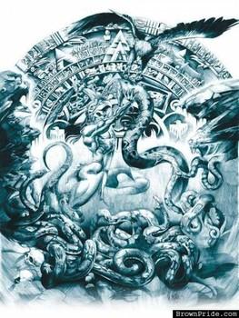 Free aztec_snake_eagle.jpg phone wallpaper by vixxen23