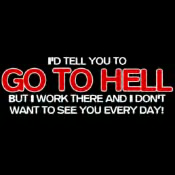 Free go to hell phone wallpaper by metalmama
