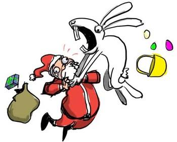 Free easter-vs-santa phone wallpaper by crow7