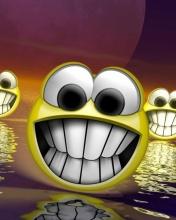 Free 3d_Smiley phone wallpaper by lttlemissred