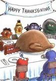 Free Thanksgiving in sesame street phone wallpaper by ipodman