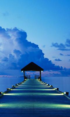 Free Blue Dock.jpg phone wallpaper by misskar3nszilli