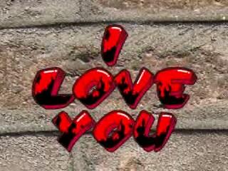 Free i love u graffiti phone wallpaper by metalmama