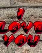 i love u graffiti