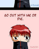 Sasori pick up line....(recommended)  :P