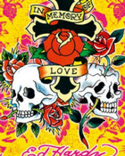 Ed Hardy Tattoo In Memory of Love