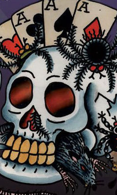 Free Ed Hardy Tattoo Skull Large phone wallpaper by dejasoul