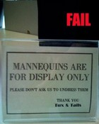 Mannequin Fail