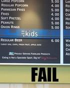 menu FAIL