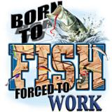 Free born to fish forced to work phone wallpaper by randapanda23