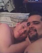 Hairy bears sleeping together
