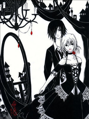 Free gothic couple phone wallpaper by meloneywow
